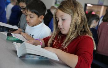 Students Read Dictionaries