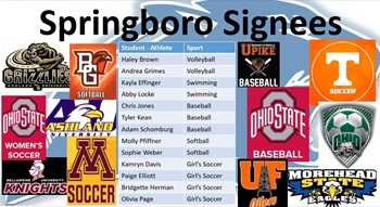 Springboro Student-Athletes Fall Signing Day