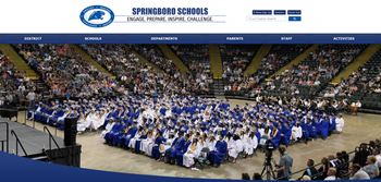 Screen Shot Springboro Schools Webpage