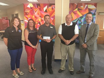 Springboro Schools Presents Check to Coffman YMCA