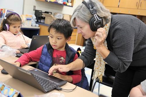 Dennis Elementary Teacher with Student