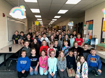 Scott Lipps and Dennis Elementary Students