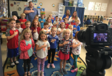 Students Sing Pledge of Allegiance