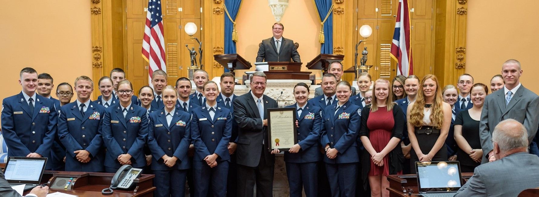 JROTC Honored at State Senate