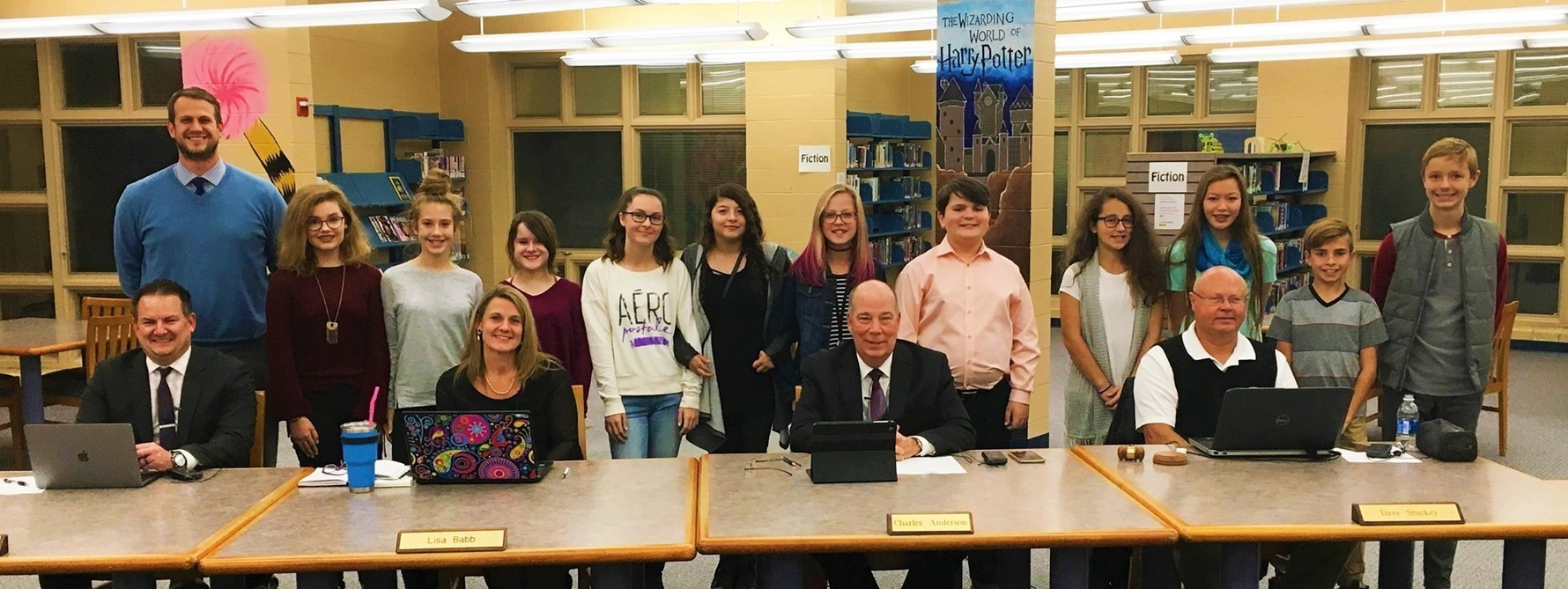 7th Graders Present to Board of Education