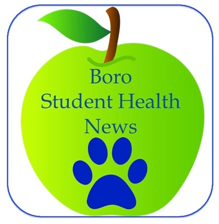 Boro Student Health News Apple w/Paw Print